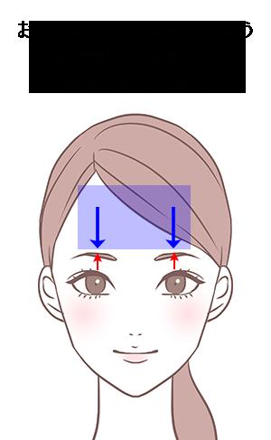 眼瞼挙筋トレーニング説明図